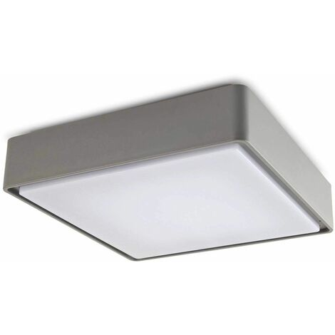 "main image of ""E27 Kossel ceiling light, polycarbonate, gray, 40 cm"""