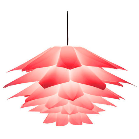 E27 Lámpara Sombra Lotus Decorativo Plástico Colgante Luz de techo para Lámpara de mesa Araña Sala de estar Rojo Hasaki