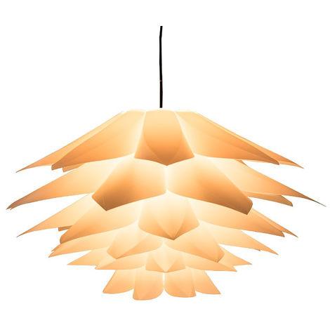 E27 Lámpara Sombra Lotus Decorativo Plástico Colgante Luz Techo Para Lámpara de mesa Araña Sala de estar Rojo Sasicare