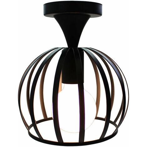 E27 Lámpara vintage de Techo de jaula industrial de iluminación Lámpara metal hierro (Negro)para salón comedor hotel restaurante cafe