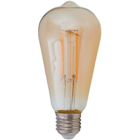 E27 LED rustic bulb 6 W 500 lm, amber 2,200 K