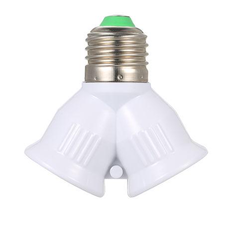 E27 Macho a 2 Hembra Y Forma de LED Bombilla Base Adaptador Divisor, portalamparas