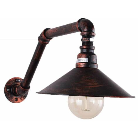 american Applique Loft Murale En Luminaire Jour Design D'eau De Abat Rétro Plafond Lampe Éclairage Tuyau E27 Industrielle Métal Style rxCBedo