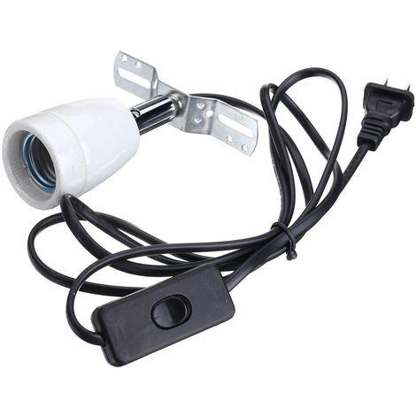 E27 Reptile Ampoule Chauffante Support Céramique Lampe Base Adaptateur Titulaire Mohoo
