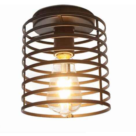E27 Retro Creative Chandelier Industrial Vintage Ceiling Lamp Black Metal Iron Cage Wall Lamp for Living Room Interior Corridor Warehouse