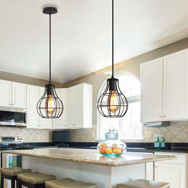 E27 Vintage Lustre Metal Suspension Industrielle Lampe De Plafond