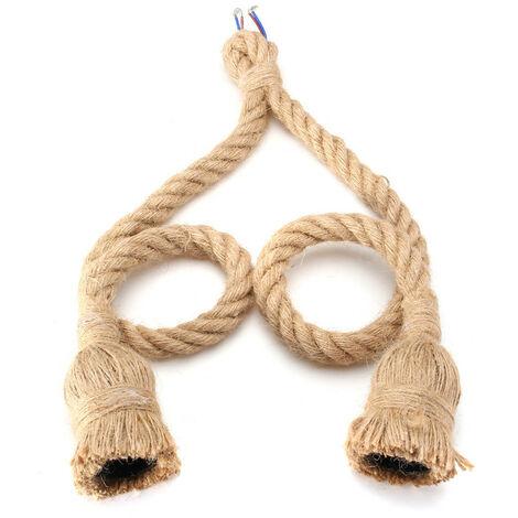 E27 Vintage Reemplazo colgante de cuerda de cáñamo para colgar 0.5M