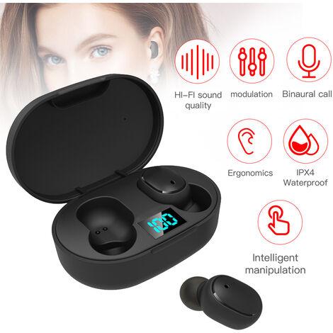 E6S Tws Ecouteur True-Wireless In-Ear Bt5.0 Casque 6Mm Bobine Mobile Sport Oreillettes Avec 280Mah Boite De Charge Soutien English Wake Up Assistant Vocal