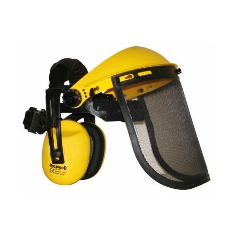 Ear Defenders And Mesh Visor For Strimmer And Brushcutters