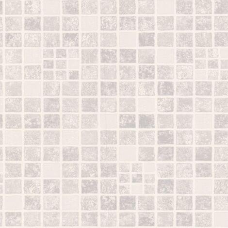 Earthen Tile Effect Grey Wallpaper Superfresco Bathroom Kitchen Textured Vinyl