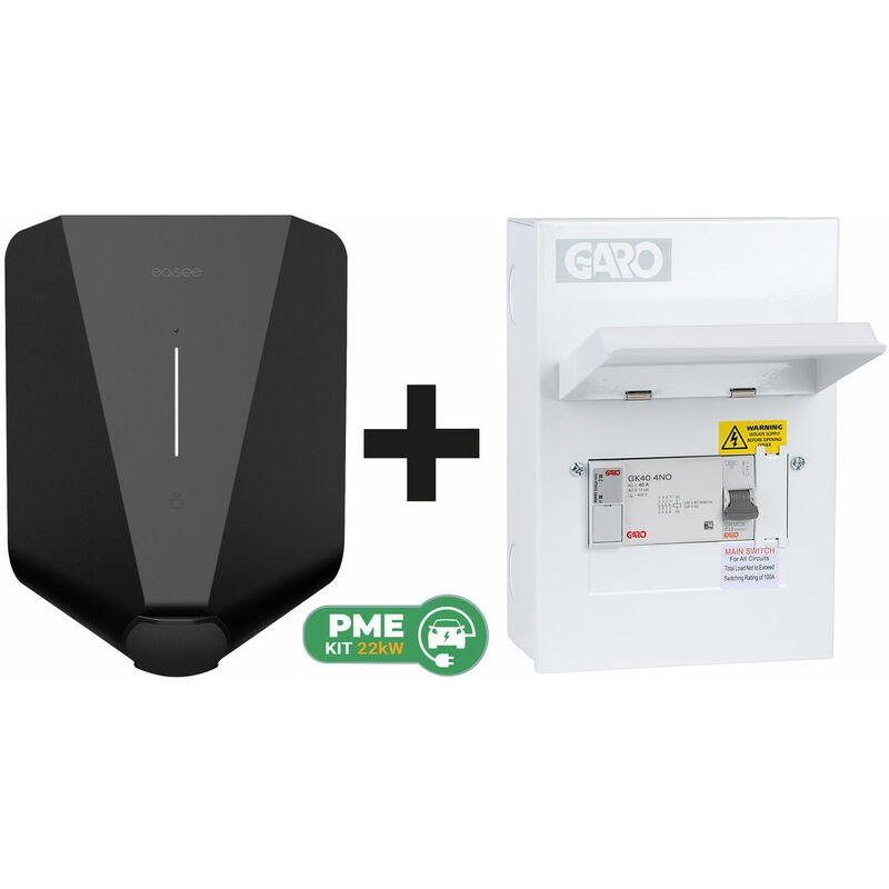 Image of Home Black Robot c/w Garo PME Connection Unit (6way) - Easee