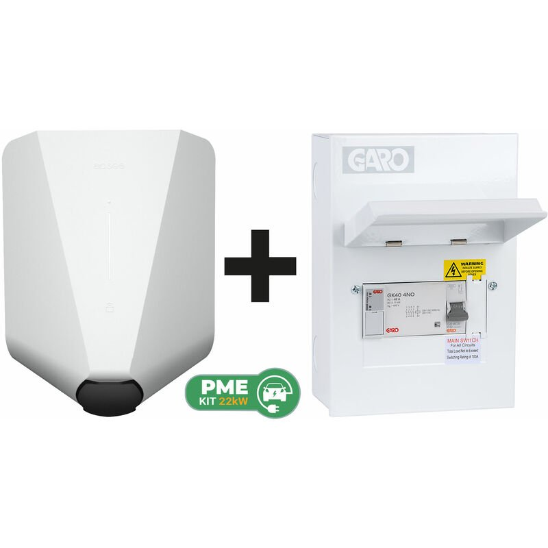 Image of Home White Robot c/w Garo PME Connection Unit (6way) - Easee