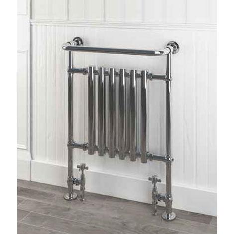 Eastbrook Ampney Chrome Traditional Heated Towel Rail 930mm x 630mm Dual Fuel - Standard
