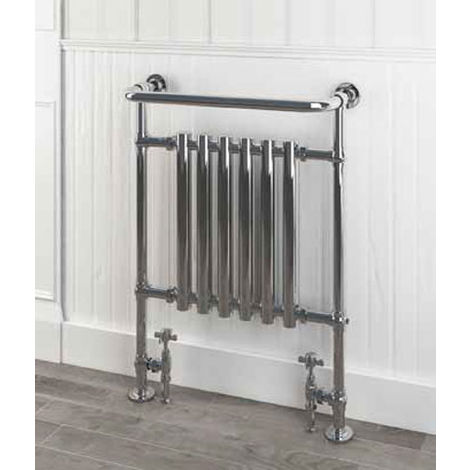 Eastbrook Ampney Chrome Traditional Heated Towel Rail 930mm x 630mm Dual Fuel - Thermostatic