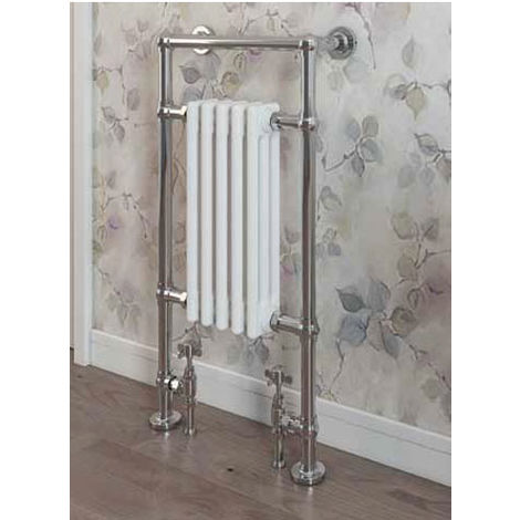 Eastbrook Avon Chrome Traditional Heated Towel Rail 960mm x 500mm Dual Fuel - Thermostatic