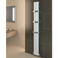 Eastbrook Berlini Aluminium Matt White Vertical Designer Radiator 1800mm x 185mm Central Heating
