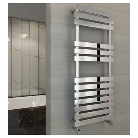 Eastbrook Biava Flat Steel Chrome Heated Towel Rail 1170mm x 500mm Central Heating