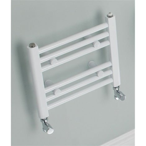 Eastbrook Biava Straight Multirail Steel White Heated Towel Rail 688mm x 450mm Central Heating