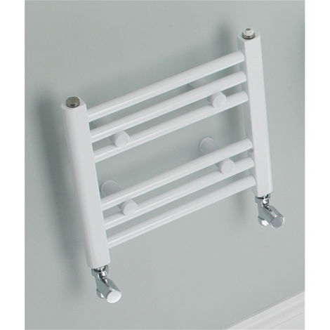 Eastbrook Biava Straight Multirail Steel White Heated Towel Rail 688mm x 600mm Electric Only - Standard