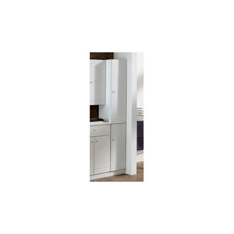 Eastbrook Bonito Tall Cupboard, 2 Door RH 1800mm x 302mm White