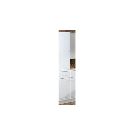 Eastbrook Bonito Tall Cupboard with Drawer LH 1800mm x 302mm White