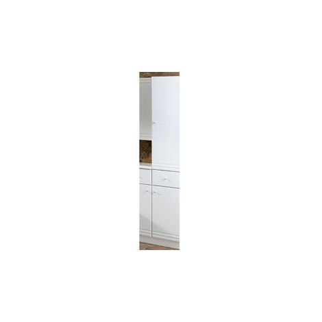 Eastbrook Bonito Tall Cupboard with Drawer RH 1800mm x 302mm White