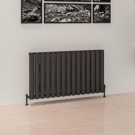 Eastbrook Burford Horizontal Aluminium Radiator 600mm x 625mm Matt Anthracite - Central Heating
