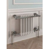 Eastbrook Coln Chrome Traditional Heated Towel Rail 510mm x 680mm Central Heating