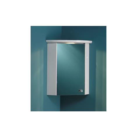 Eastbrook Corner Mirror Cupboard Carcase 660mm x 460mm High Gloss White