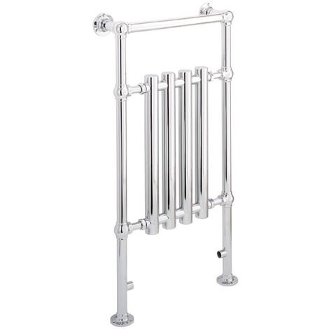 Eastbrook Frome Chrome Traditional Heated Towel Rail 952mm x 500mm Central Heating