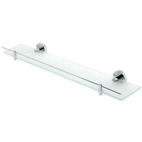 Eastbrook - Genoa Glass Shelf With Barrier - Chrome