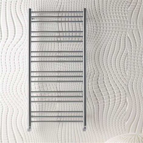 "main image of ""Eastbrook Heating - Biava Round Towel Rail 600 x 500mm - Chrome"""