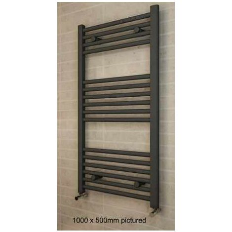 Eastbrook Heating - Wingrave 800 x 400mm Straight Multi Rail - Textured Anthracite