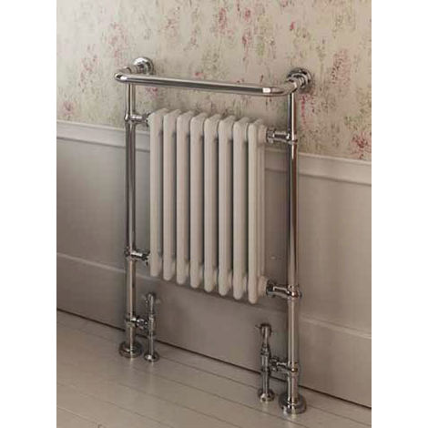 Eastbrook Isbourne Chrome Traditional Heated Towel Rail 940mm x 600mm Electric Only - Thermostatic