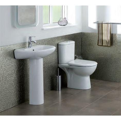 Eastbrook - Kompact Suite. WC, 550 Basin and Full Pedestal - White