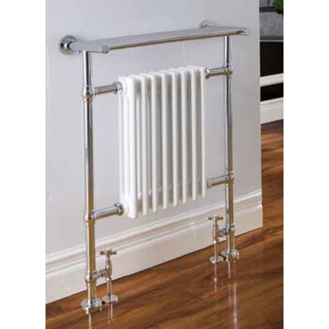 Eastbrook Leadon Chrome Traditional Heated Towel Rail 940mm x 700mm Central Heating
