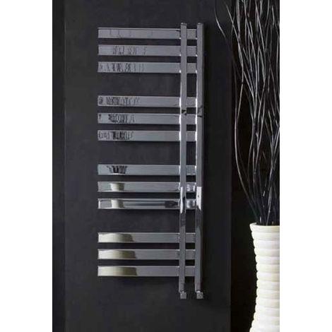 Eastbrook Leonardo Steel Chrome Heated Towel Rail 1800mm x 400mm Electric Only - Thermostatic