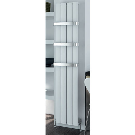 Eastbrook Malmesbury 1800mm x 185mm Vertical Aluminium Radiator Matt Grey - Electric Only Thermostatic