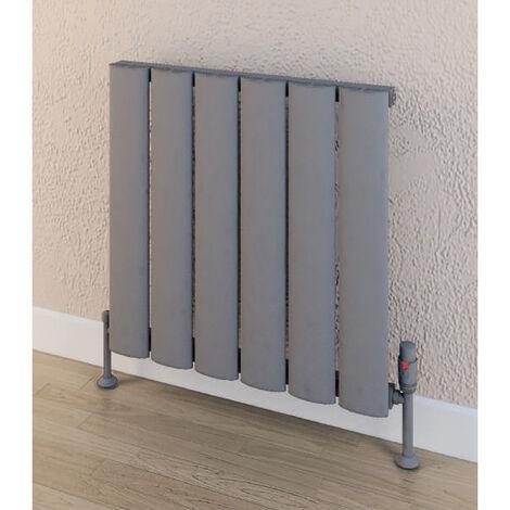 Eastbrook Malmesbury 600mm x 375mm Horizontal Aluminium Radiator Matt Grey - Central Heating