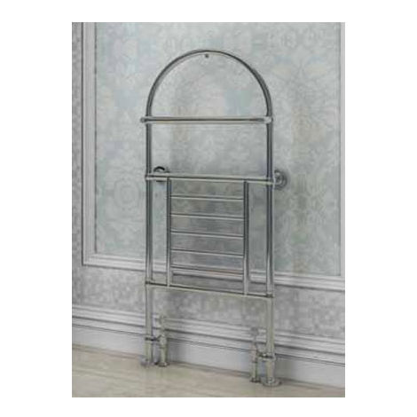 Eastbrook Severn Chrome Traditional Heated Towel Rail 1340mm x 500mm Electric Only - Thermostatic
