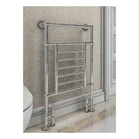 Eastbrook Sherbourne Chrome Traditional Heated Towel Rail 960mm x 600mm Dual Fuel - Thermostatic