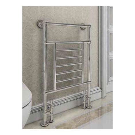 Eastbrook Sherbourne Chrome Traditional Heated Towel Rail 960mm x 600mm Electric Only - Thermostatic