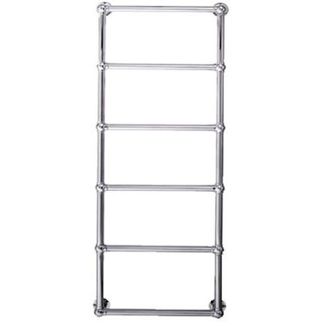 Eastbrook Stour Chrome Traditional Heated Towel Rail 1195mm x 500mm Dual Fuel - Thermostatic