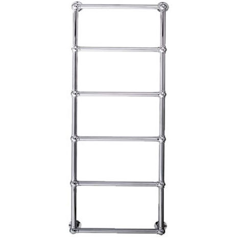 Eastbrook Stour Chrome Traditional Heated Towel Rail 1195mm x 600mm Dual Fuel - Thermostatic