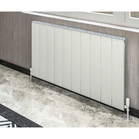 "main image of ""Eastbrook Vesima Matt Black Aluminium Horizontal Designer Radiator 600mm x 603mm Central Heating"""