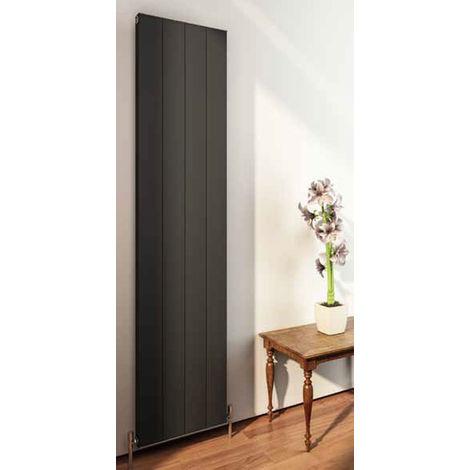 Eastbrook Vesima Matt Black Aluminium Vertical Designer Radiator 1800mm x 303mm Electric Only - Thermostatic