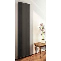 Eastbrook Vesima Matt Black Aluminium Vertical Designer Radiator 1800mm x 403mm Central Heating