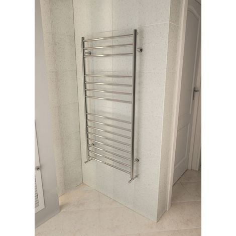 Eastbrook Violla Polished Stainless Steel Heated Towel Rail 1210mm x 600mm Central Heating