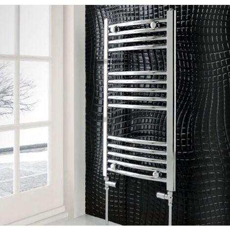 Eastbrook Wendover Straight Steel Chrome Heated Towel Rail 1200mm x 300mm Electric Only - Thermostatic