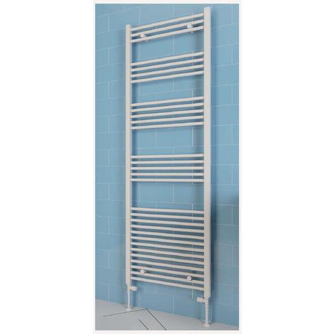Eastbrook Wendover Straight Steel White Heated Towel Rail 600mm x 300mm Dual Fuel - Standard